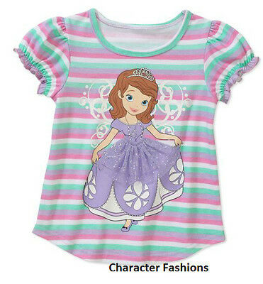 SOFIA THE FIRST 2T 3T 4T 5T Girls SHIRT TOP TEE Short Sleeve DISNEY Princess