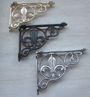 1 X Cast iron Vintage decorative fancy ornate Shelf Support Book Bracket