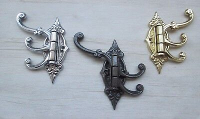 Cast Iron Vintage Victorian Wardrobe Swivel Swing Arm Coat Hook Wall Mounted
