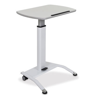 Pneumatic Height Adjustable Lectern - White 1 ea