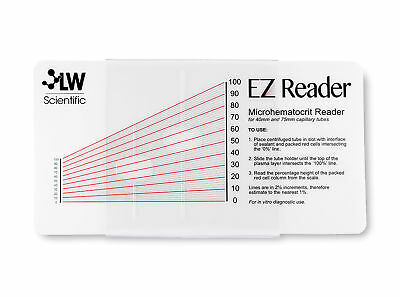 Ez Reader Microhematocrit Card with Sleeve 1 ea