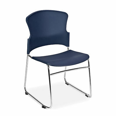 Multi-Use, Plastic, Stack Chair, Navy 4 pk