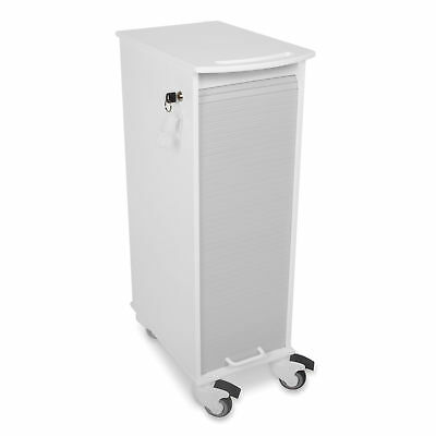 Lockable Storage Cart, Grey 1 ea