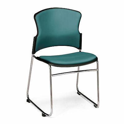 Anti-Microbial/Anti-Bacterial Stack Chair, Teal 4 pk