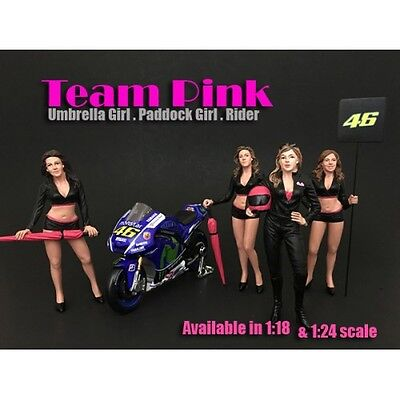 1/24-G Scale American Diorama figure-Team Pink - COMPLETE SET OF 4 FIGURES