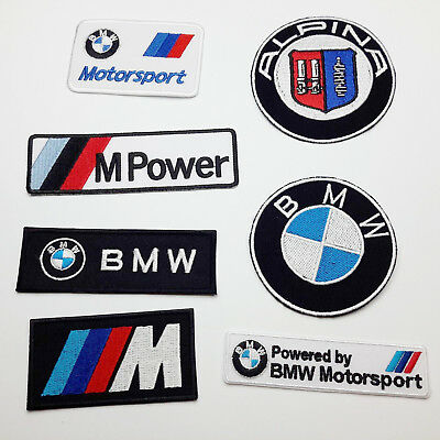 BMW CAR MARQUE PATCH STORE - Full Size Embroidered Iron-On Patches!