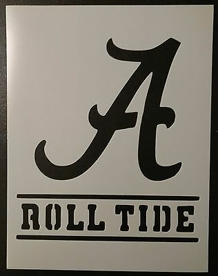 "Alabama Crimson Roll Tide 8.5"" x 11"" Custom Stencil FAST FREE SHIPPING"