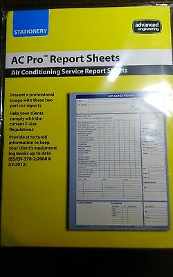 AC Pro Report Air Conditioning Service Report Sheets Pad of 50 New