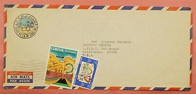1969 Libya Oasis Oil Co Corner Multi Franked Airmail Cover To Usa