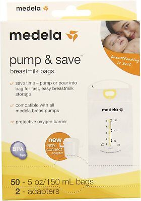 Pump & Save Breastmilk Bags, Medela, 50 bags