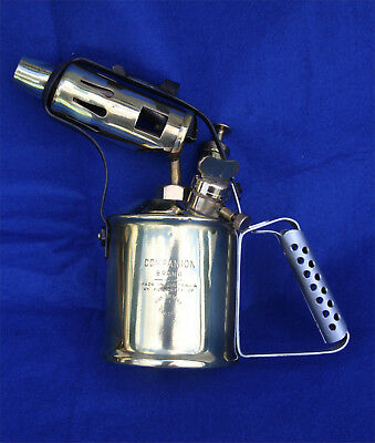 Vintage collectable Companion blow torch - with Nipple Pricker / Cleaner