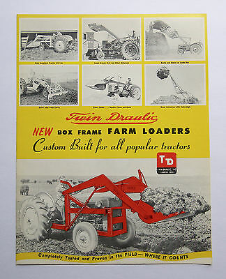 Twin Draulic Farm Loader Brochure Ford 641 McCormick Deering W-9 Tractor Iowa