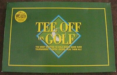 TEE OFF on GOLF  Family SPORTS BOARD GAME 1994  S. Bendash  COMPLETE  Rare!