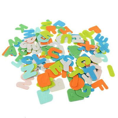 50PCS ADHESIVE FELT Shapes for Kids Craft Felt Board Applique Toys
