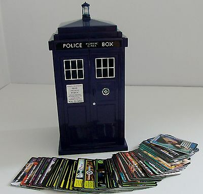 Doctor Who Tardis Card Holder & 71 Monster Invasion Cards