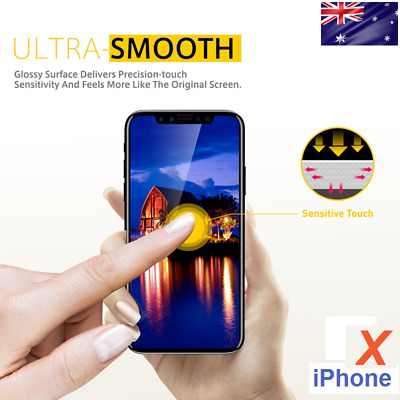 1x 2x 3x PACK Premium Tempered Glass Screen Protector iPHONE X 9H 2.5D Edge