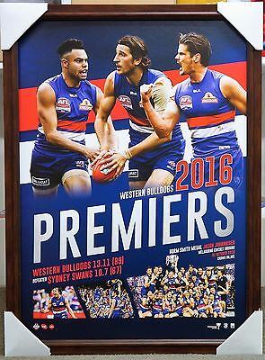 Western Bulldogs Afl 2016 Premiers Print Framed Grand Final Collage Priced 2Sell