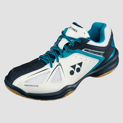 Yonex SHB35 Power Cushion 35 Badminton Shoes - White/Sky Blue