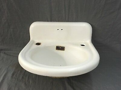 Antique Cast Iron White Porcelain Sink Old Bathroom Vintage Plumbing 743-16