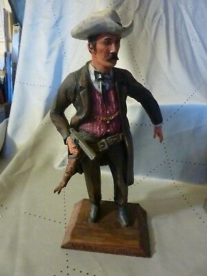 "Dee Flagg Woodcarving ""Cowboy Wyatt Earp"" hand carved by the master"