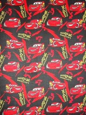NEW Hand Made Lightning McQueen Flannel Stripe's Oblong Bassinet Fitted Sheet