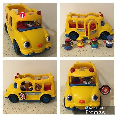Fisher Price Little People 2005 Bus Car Scolaire Avec Personnages