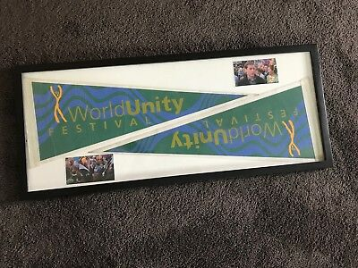 Two Spider-Man 2002 Prop Unity Fair Banners Tobey Maguire