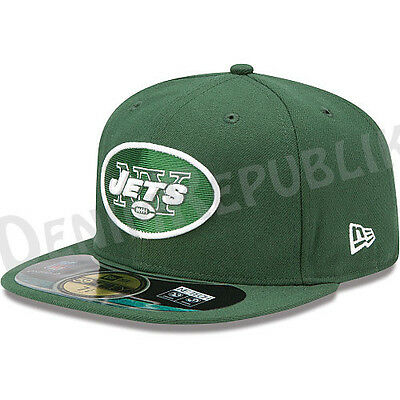 separation shoes a6efd 3ef3c New Era 5950 NEW YORK JETS Game Official NFL On Field Cap Green Fitted Hat