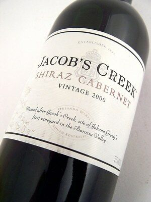 2000 JACOBS CREEK Shiraz Cabernet Isle of Wine