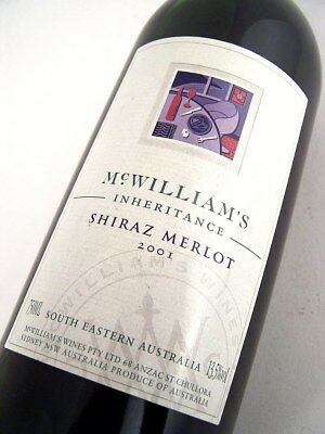 2001 McWILLIAMS INHERITANCE Shiraz Merlot Isle of Wine