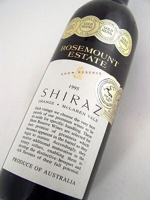 1995 ROSEMOUNT Estate Show Reserve Shiraz Isle of Wine