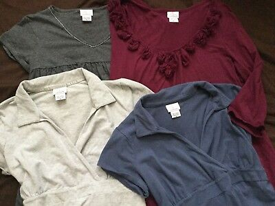 Maternity Lot XL Short Long Sleeve Tops Shirts Red Gray Blue Career Casual