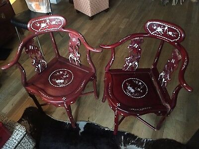 Antique Cherry Wood Chinese Chairs