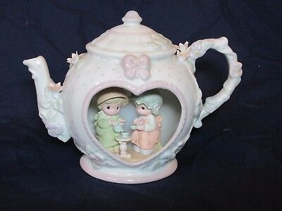 Precious Moments Light Up Teapot Our Friendship Hits the Spot