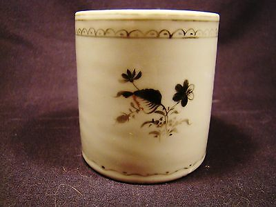 Chinese Export Porcelain Grisaille Coffee Can late 18th - early 19th c
