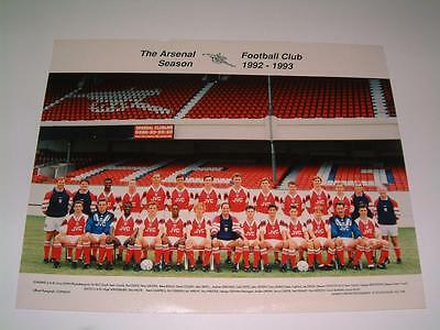 Arsenal Fc 1992-1993 Squad Original Press Or Club Issued Photograph