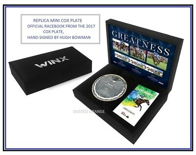 Winx Cox Plate And Race Book In Display Box - Hugh Bowman Horse Racing