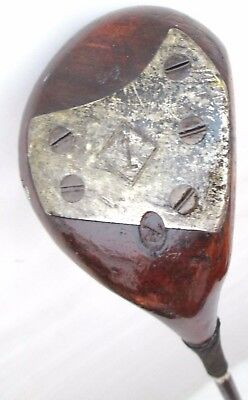 Vintage MacGregor Dayton Persimmon Driver Pyratone Shaft CrossHatch Face 5 Screw