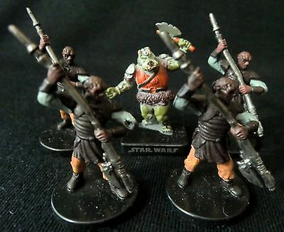 Star Wars Miniatures Game Lot -  Gamorrean Guard & Weequay Leader !!