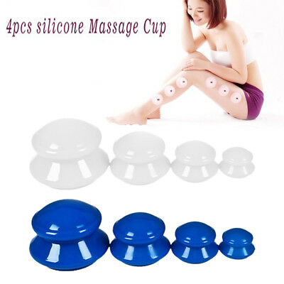 Vacuum Cupping Cup Silicone Family Facial Body Massage Therapy Cupping Cup Set