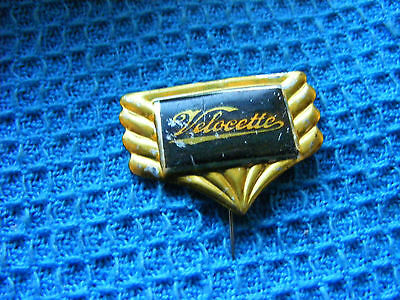 VELOCETTE  motorcycle very old lapel,hat pin badge,prob. 1950s.