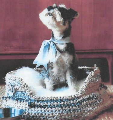 0125 Knitting Pattern Miniature Schnauzer Dog