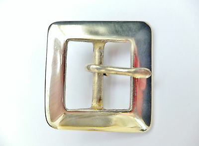 """HEAVY DUTY NICKEL PLATED on BRASS  1""""  or 25 mm Belt Buckle Leather craft"""