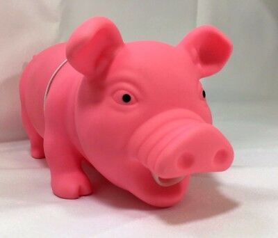 """Animolds Squeeze Me Piggie Pink 8"""" x 3.5"""" Makes """"oink"""" Sound"""