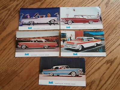 1957 Mercury cars Advertising Postcard Dealer Promotional Item  Lot of 5!!!