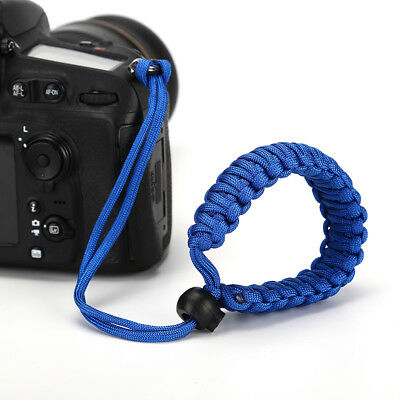 Chic Durable Adjustable Camera Wrist Lanyard Strap Grip Weave Cord for Paracord