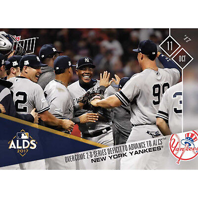 Ny Yankees Overcome 0-2 Alds Advancing To Alcs Topps Now 2017 Card #749 + Tpldr