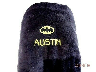 Large Throw - Batman - Beautifully Embroidered Super Soft Gift 150 X 120