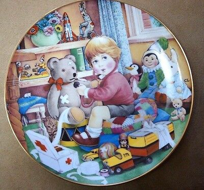 """FRANKLIN MINT Collectible Plate """"Little Doctor"""" 1984 CAROL LAWSON"""