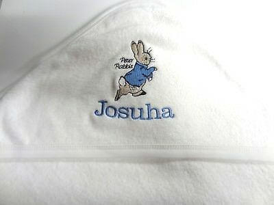 Personalised Hooded Towel - Peter Rabbit - Beatrix Potter Embroidered Gift